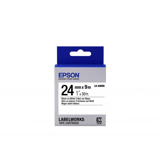 Epson Etikettenkassette LK-6WBN - Standard - schwarz auf weiß - 24mmx9m