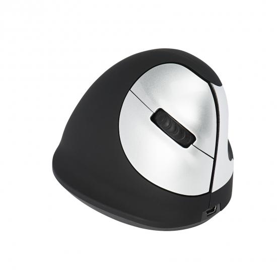 R-Go Tools R-Go HE Mouse, Ergonomische Maus, Mittel (Handlänge 165-185mm), rechtshändig, drahtlose