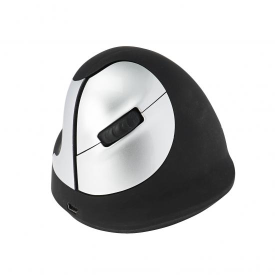 R-Go Tools R-Go HE Mouse, Ergonomische Maus, Mittel (Handlänge 165-185mm), linkshändig, drahtlose