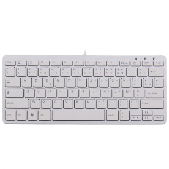 R-Go Tools R-Go Compact Tastatur, AZERTY (FR), weiß, kabelgebunden