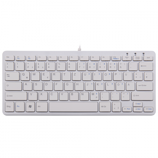 R-Go Tools R-Go Compact Tastatur, QWERTZ (DE), weiß, kabelgebunden