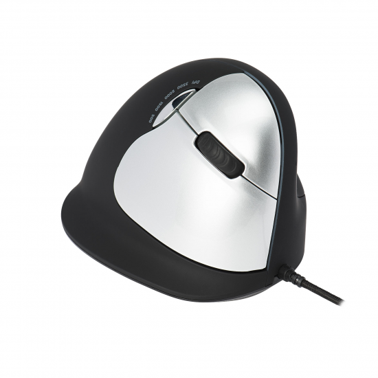 R-Go Tools R-Go HE Mouse, Ergonomische Maus, Groß (Handlänge über 185mm), rechtshändig, kabelgebunden