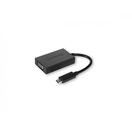 Lenovo USB C - VGA Schwarz