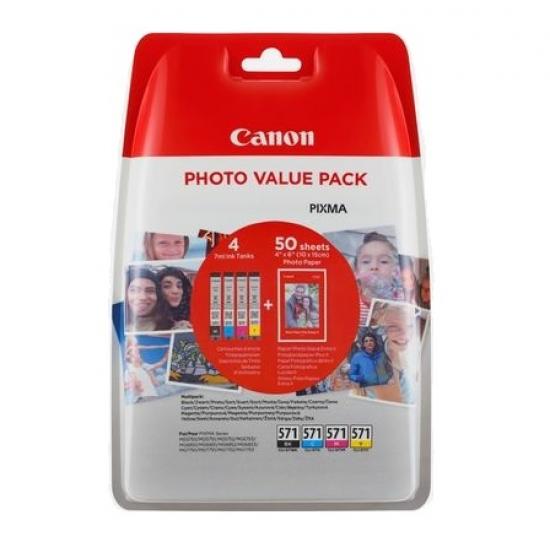 Canon CLI-571XL Original Schwarz, Cyan, Magenta, Gelb