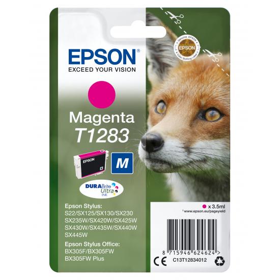 Epson Fox Singlepack Magenta T1283 DURABrite Ultra Ink