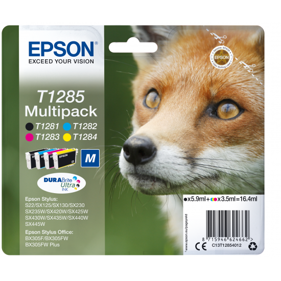 Epson Fox Multipack 4 Farben T1285, DURABrite Ultra Ink