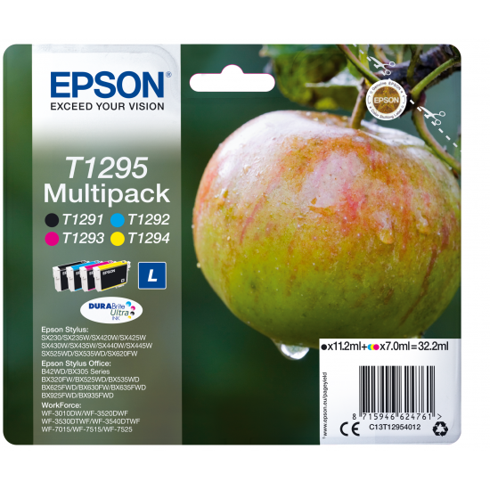 Epson Apple Multipack 4 Farben T1295, DURABrite Ultra Ink