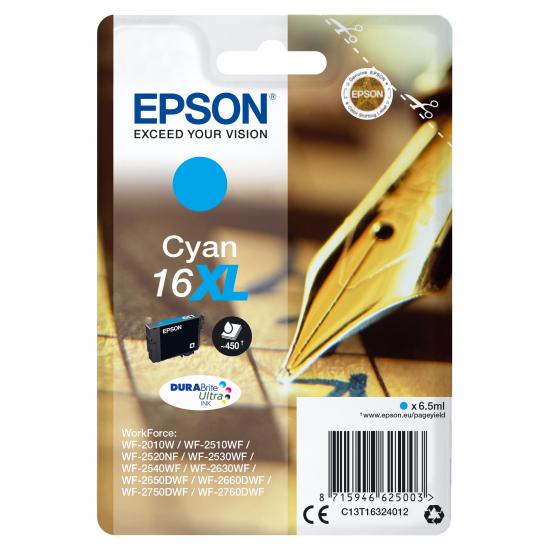 Epson Pen and crossword Singlepack Cyan 16XL DURABrite Ultra Ink