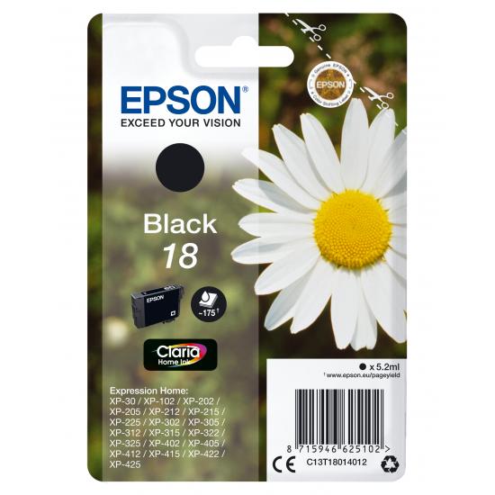 Epson Daisy Singlepack Black 18 Claria Home Ink