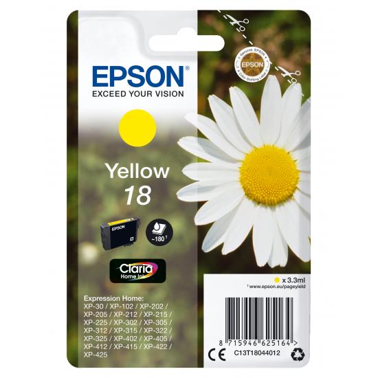 Epson Daisy Singlepack Yellow 18 Claria Home Ink