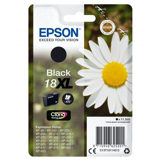 Epson Daisy Singlepack Black 18XL Claria Home Ink
