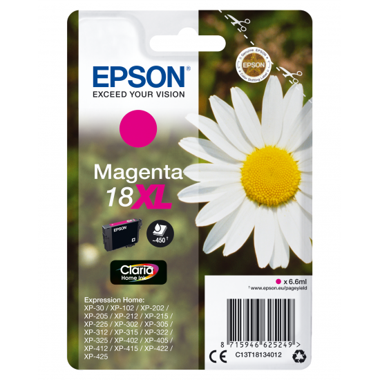Epson Daisy Singlepack Magenta 18XL Claria Home Ink