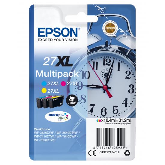 Epson Alarm clock Multipack 3-colour 27XL DURABrite Ultra Ink