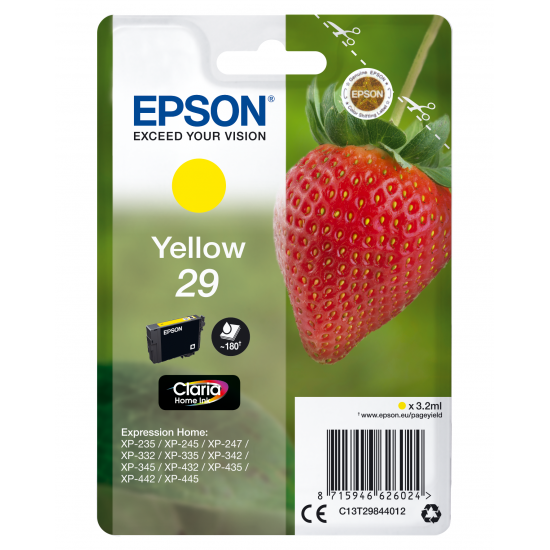Epson Strawberry Singlepack Yellow 29 Claria Home Ink