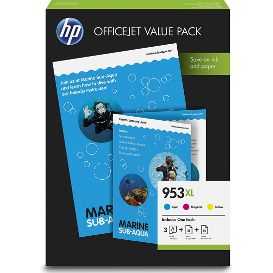 HP 953XL Officejet Value Pack Original Cyan, Magenta, Gelb