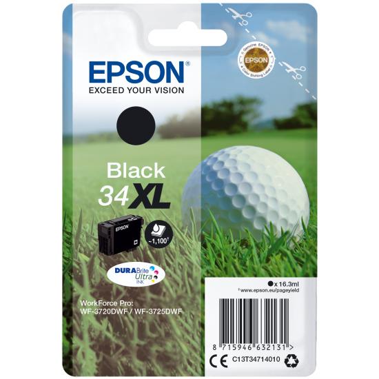 Epson Golf ball Singlepack Black 34XL DURABrite Ultra Ink