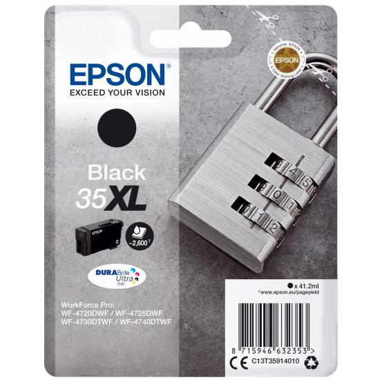 Epson Padlock Singlepack Black 35XL DURABrite Ultra Ink