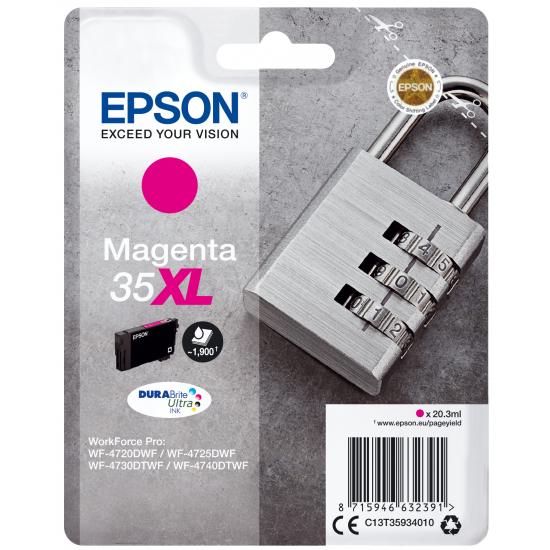 Epson Padlock Singlepack Magenta 35XL DURABrite Ultra Ink
