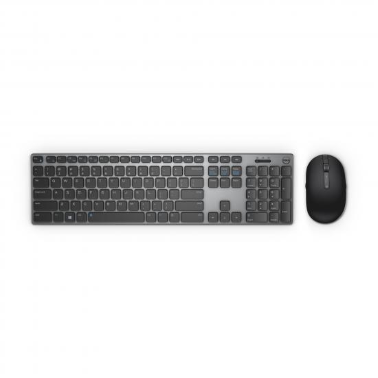 DELL KM717 Tastatur RF Wireless + Bluetooth QWERTZ Deutsch Schwarz, Grau