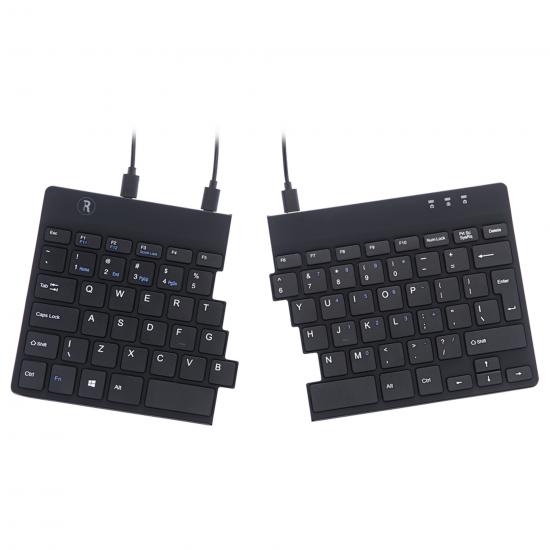 R-Go Tools R-Go Split Break Ergonomische Tastatur, QWERTY (US), schwarz, kabelgebunden