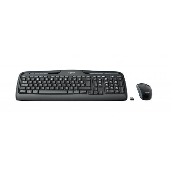 Logitech MK330 Tastatur RF Wireless QWERTZ Deutsch Schwarz