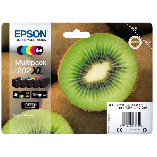 Epson Kiwi Multipack 5-colours 202XL Claria Premium Ink