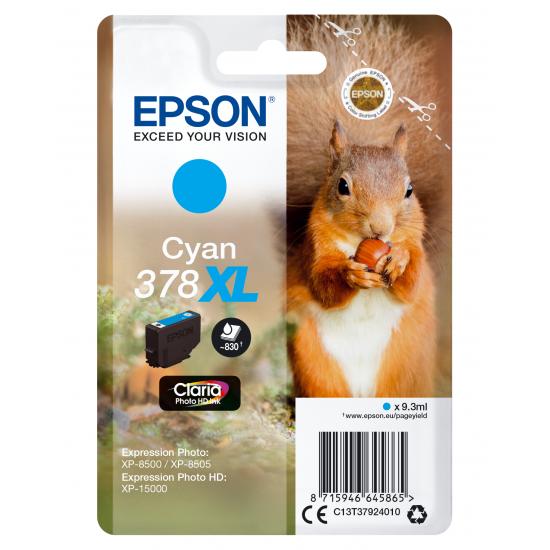 Epson Squirrel Singlepack Cyan 378XL Claria Photo HD Ink