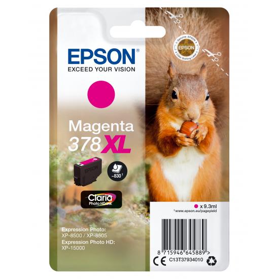 Epson Squirrel Singlepack Magenta 378XL Claria Photo HD Ink
