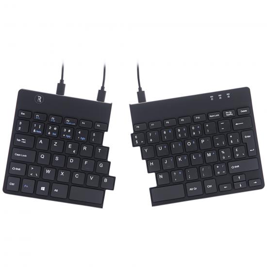 R-Go Tools R-Go Split Break Ergonomische Tastatur, AZERTY (BE), schwarz, kabelgebunden