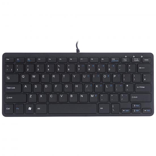 R-Go Tools R-Go Compact Tastatur, QWERTY (UK), schwarz, kabelgebunden