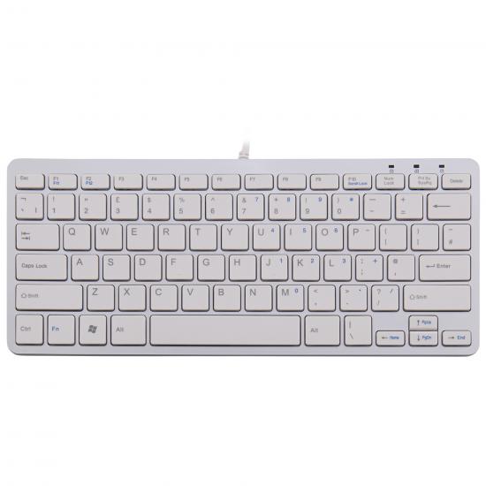 R-Go Tools R-Go Compact Tastatur, QWERTY (UK), weiß, kabelgebunden