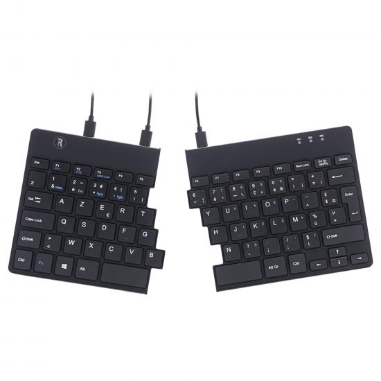 R-Go Tools R-Go Split Break Ergonomische Tastatur, AZERTY (FR), schwarz, kabelgebunden
