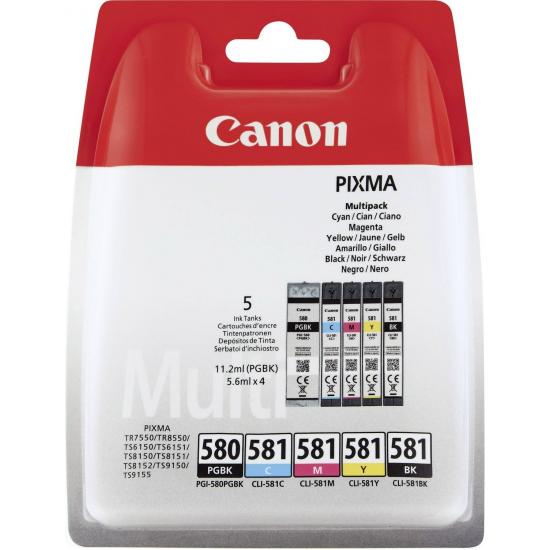 Canon PGI-580/CLI-581 Original Schwarz, Cyan, Magenta, Gelb