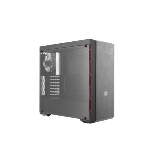 Cooler Master MasterBox MB600L Midi Tower Schwarz, Rot