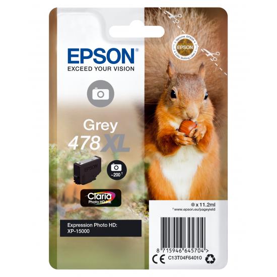 Epson Squirrel Singlepack Grey 478XL Claria Photo HD Ink