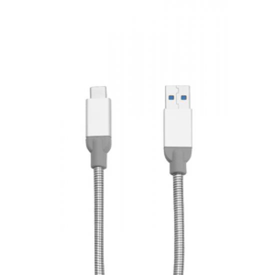 Verbatim USB-C auf USB-A Edelstahl-Synchr.- und Ladekabel USB 3.1 GEN 2 30 cm