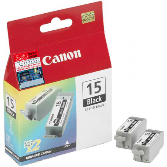 Canon Cartridge BCI-15 Black Original Schwarz 2 Stück(e)