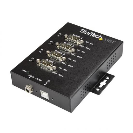 StarTech.com 4 Port industrieller USB auf RS232/ 422/ 485 Serieller Adapter - 15kv ESD Schutz