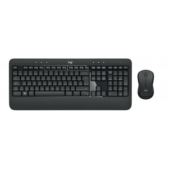 Logitech MK540 Advanced Tastatur RF Wireless QWERTZ Deutsch Schwarz, Weiß