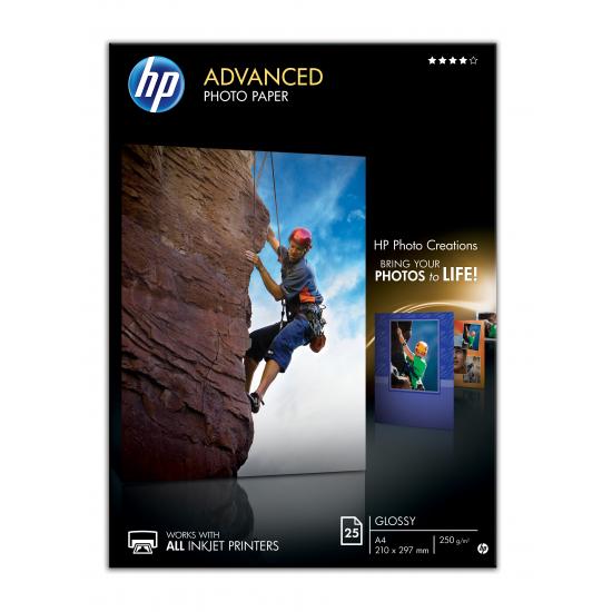 HP Q5456A Fotopapier Schwarz, Blau, Weiß Glanz A4