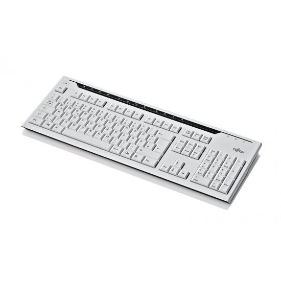 Fujitsu KB520 Tastatur USB QWERTY Finnisch, Schwedisch Grau