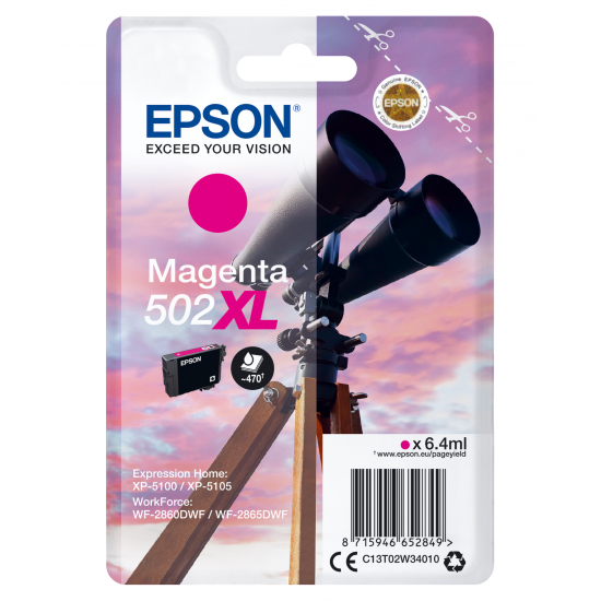 Epson Singlepack Magenta 502XL Ink