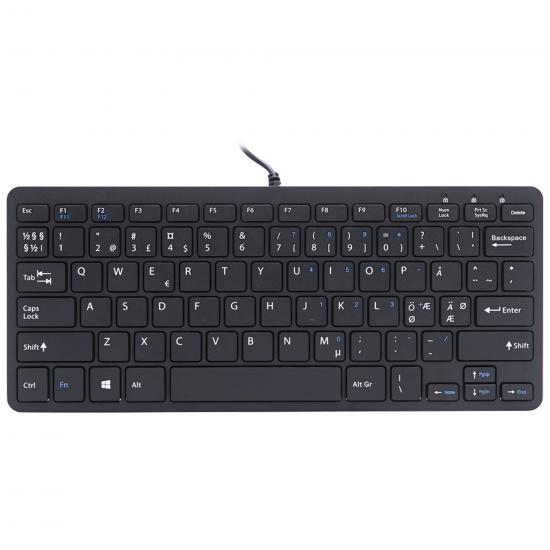 R-Go Tools R-Go Compact Tastatur, QWERTY (Nordic), schwarz, kabelgebunden
