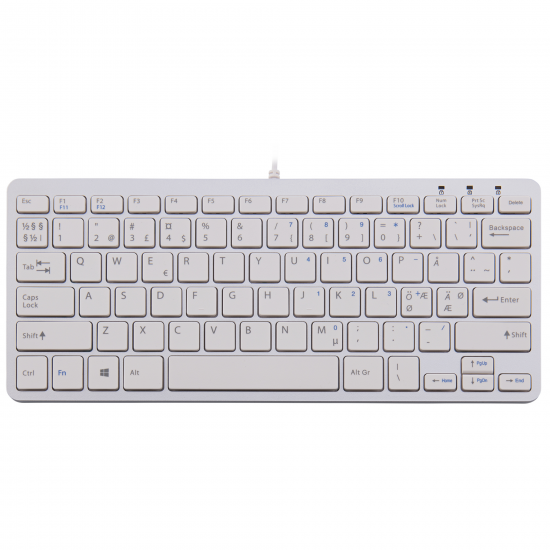 R-Go Tools R-Go Compact Tastatur, QWERTY (NORDIC), weiß, kabelgebunden