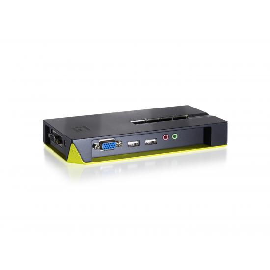 LevelOne 4-Port USB KVM Switch mit Audio