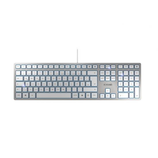 CHERRY KC 6000 SLIM Tastatur USB QWERTZ Deutsch Silber