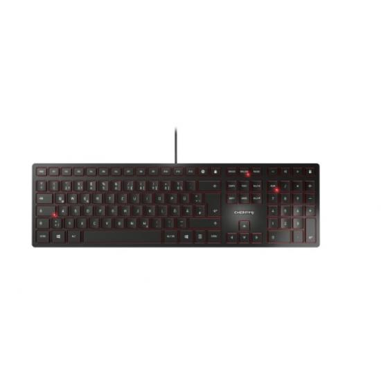 CHERRY KC 6000 Slim Tastatur USB QWERTZ Deutsch Schwarz
