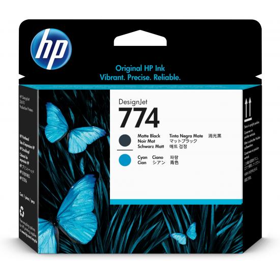 HP 774 Original Cyan, Mattschwarz