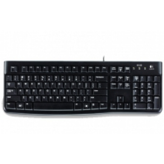 Logitech K120 Tastatur USB QWERTY Portuguesisch Schwarz
