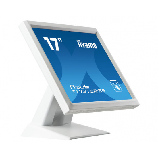 iiyama ProLite T1731SR-W5 Touchscreen-Monitor 43,2 cm (17 Zoll) 1280 x 1024 Pixel Weiß Single-Touch